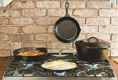Lodge Pre-Seasoned Iron Skillets with Hot Handle