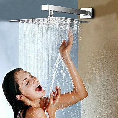 Large 12 Stainless Shower Head Rainfall