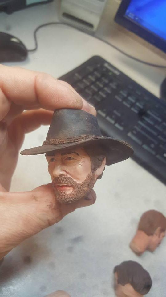 red dead redemption arthur head hat for figure