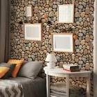 Removable 3D Brick Wallpaper PVC Wall Sticker for Living Roo