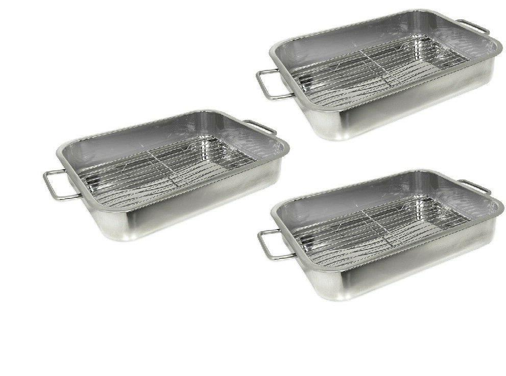 set of 3 stainless steel 16 x