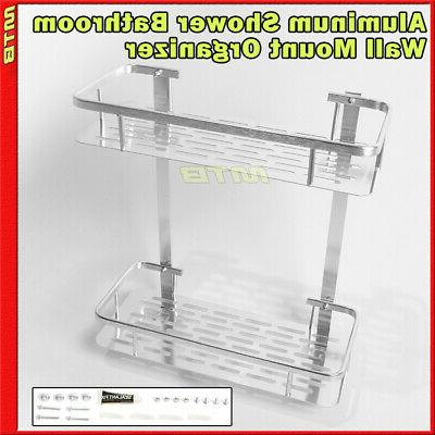 shower caddy basket 12 inch organizer aluminum