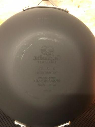"Calphalon Signature Hard Anodized Nonstick 12""Flat Wok Box"