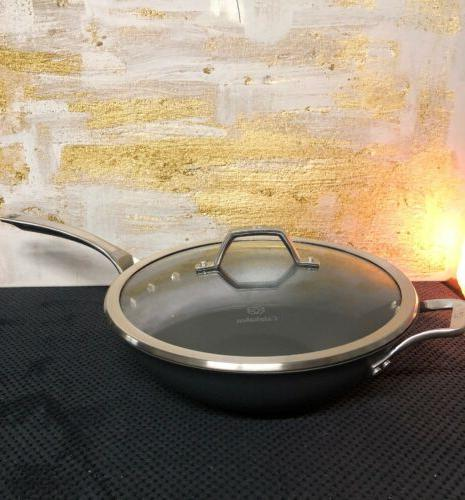 signature hard anodized nonstick covered 12flat bottom