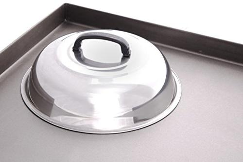 Blackstone - Inch Steel - Cheese Dome and Cover - Use in Flat Griddle Grill Cooking Indoor or Outdoor