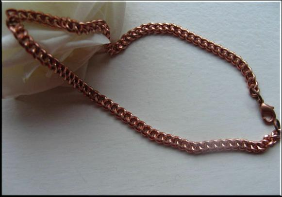 Solid Copper Anklet CA009 -1/8 of an inch wide-  Available i