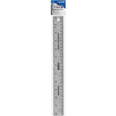 "12""  Stainless Steel Ruler Quantity: Case of 24"
