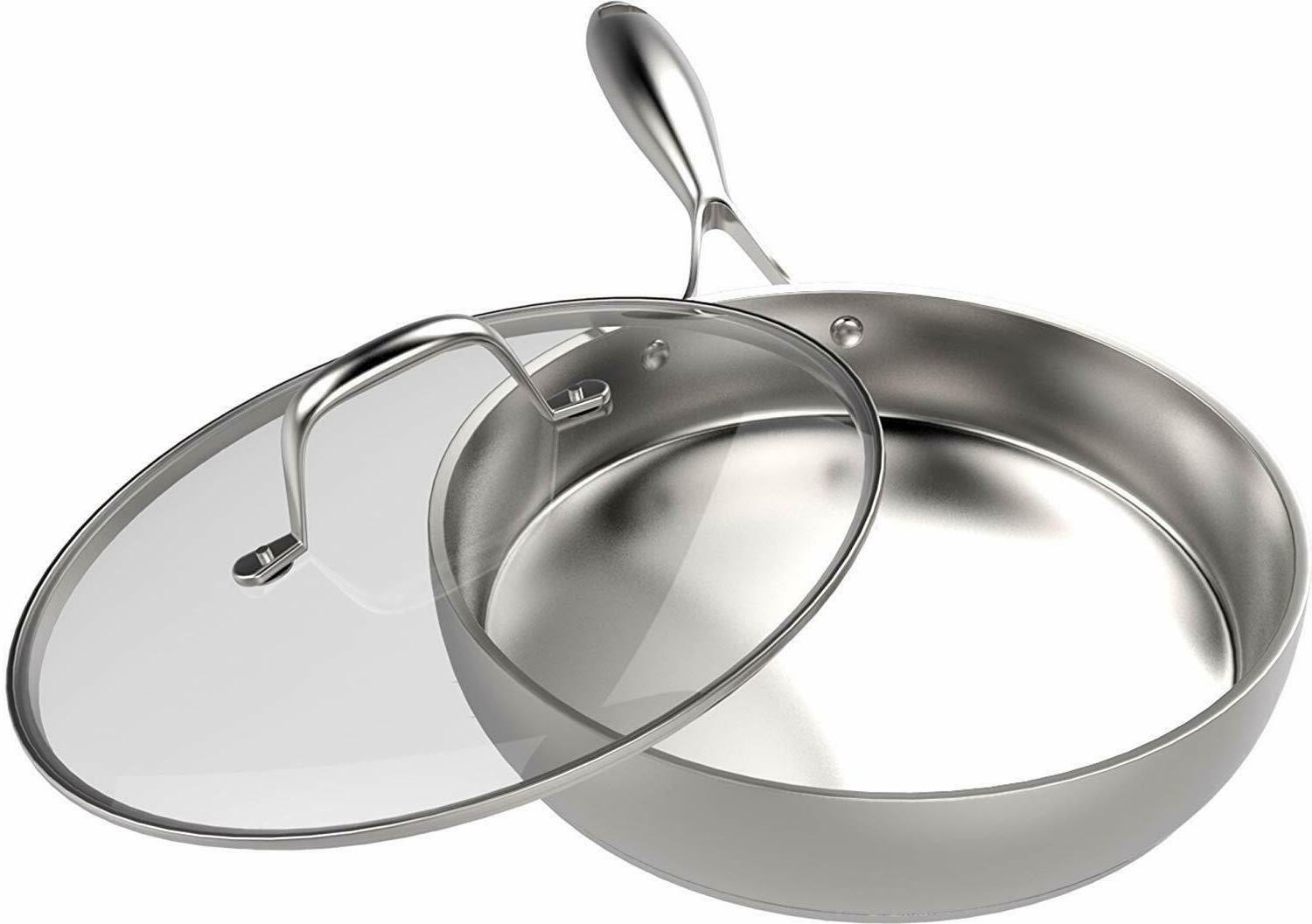Skillet with Steel Compatible Utopia Kitchen