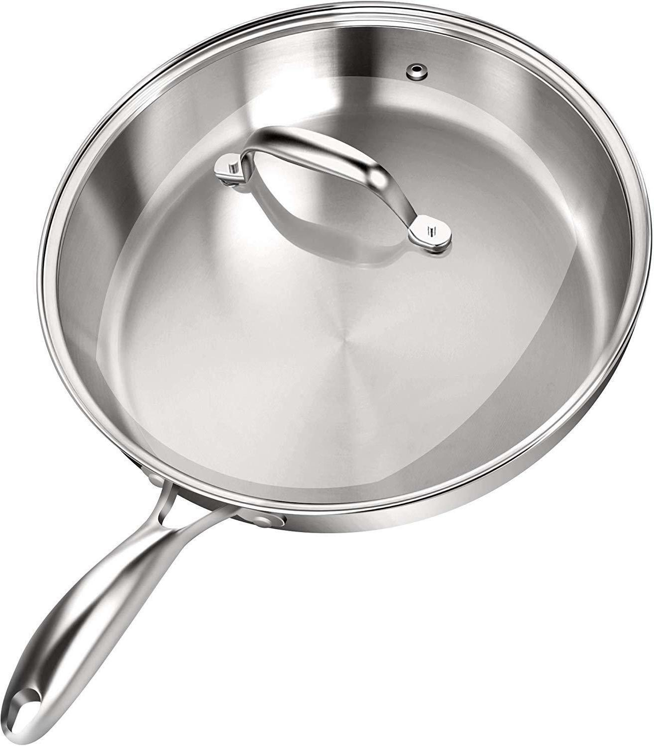Stainless Steel With Lid Pan Non Cookware