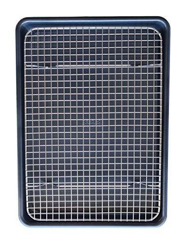 KITCHENATICS 100% Stainless Wire Cooling Rack Fits Quarter Sheet Size Oven Safe, Duty for Roasting, Drying,