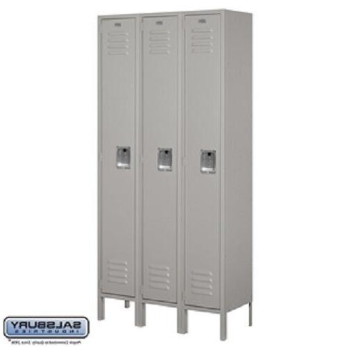 Standard Metal Locker - Single Tier - 3 Wide - 5 Feet High -