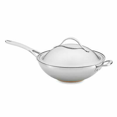 stir fry pan nouvelle copper stainless steel