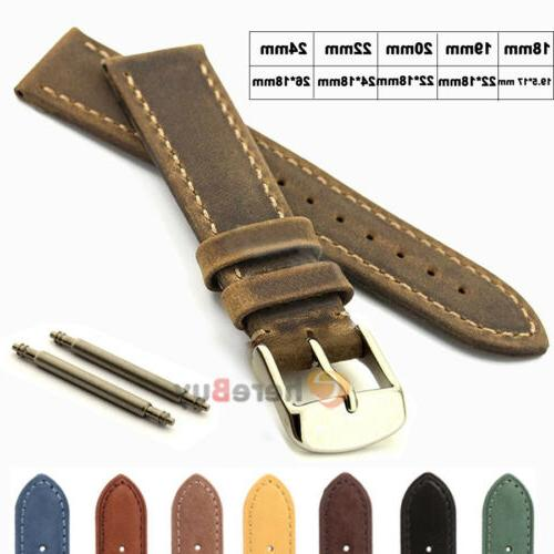 Suede Genuine Leather Watch Strap Band Teacher Stainless Ste
