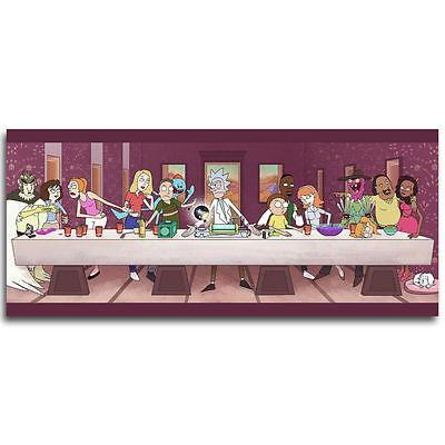 The Last Supper Rick and Morty Cartoon Silk Poster Inch