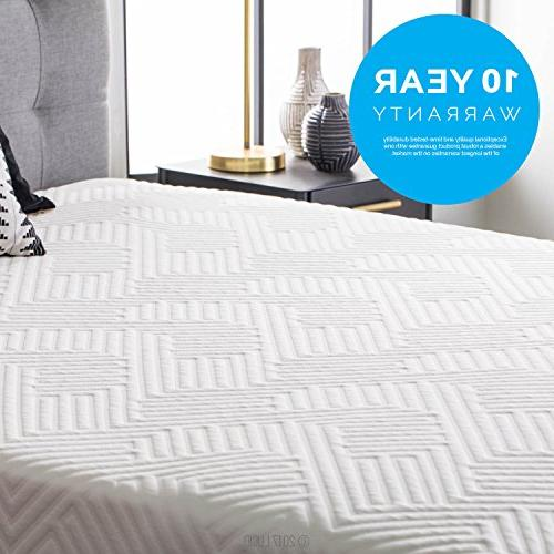 LUCID Hybrid Mattress Charcoal and Aloe Infused Memory Foam Motion CertiPUR-US Certified