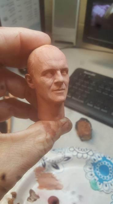 unpainted lector silence of the lambs head for 12 inch new