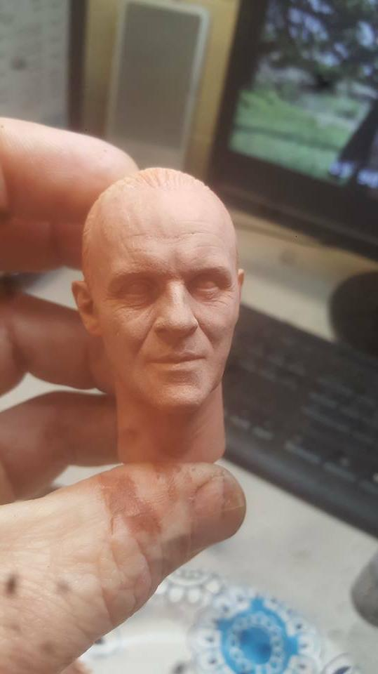 unpainted hannibal lector silence of the lambs