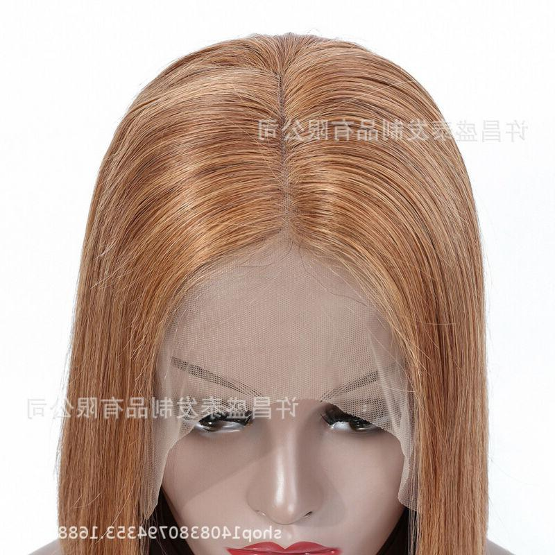 US 12-14inch 13x4 front 100% Hair Blonde Straight