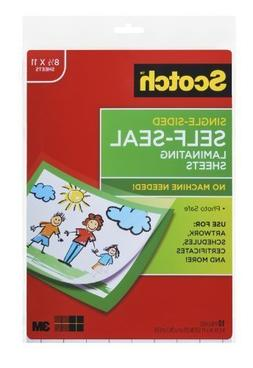 Scotch® Laminating Sheets LS854SS-10, 9 Inches x 12 Inches,