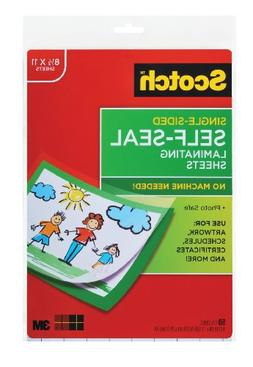 Scotch 9 x 12 Inches Laminating Sheets Letter Size Single Si