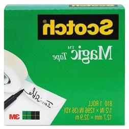 "3M Magic Tape, 1"" Core, 3/4""X1296"", 1/Pack, Transparent"