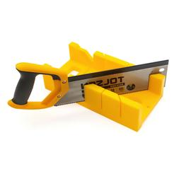 mitre box with back hand saw set