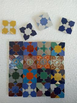 Moroccan Berber mosaic tiles 1.33inches/1.33iches