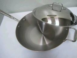 "NEW Chef's Wok All-Clad Copper Core 12"" inch 4qt Chef's Pan"