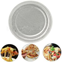 Home  Kitchen Cookware Flat Baking Tray Pizza Screen Plate P