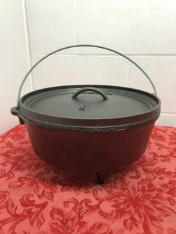 NEW Lodge Seasoned Cast Iron Deep Camp Outdoor  Dutch Oven -