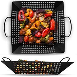 Corona BBQ Grill Accessories Set as Square 12 Inch Sized Gri