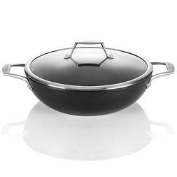 TECHEF - Onyx Collection, 12-Inch Wok/Stir Fry Pan with Glas