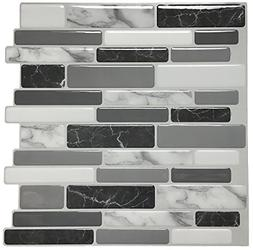 "Art3d Peel and Stick Wall Tile for Kitchen Backsplash, 12""x1"