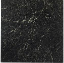 Peel N Stick 12-Inch Vinyl Tile Marble Black with White Vein