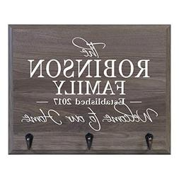 Personalized Welcome to Our Home Wall Mounted Coat, Hat, Key