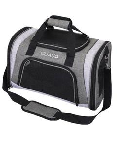 Qualid Pet Carrier 19x11x12 Inches Cat Dog Travel Carrier