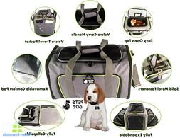 Pet Carrier Expandable Soft Sided Dog Cat Bag Airline Approv