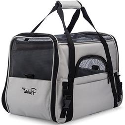 Pawkin Pet Travel Carrier - Soft Sided - Airline Approved -