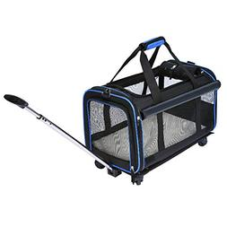 YOUTHINK Pet Wheels Rolling Carrier, Removable Wheeled Trave