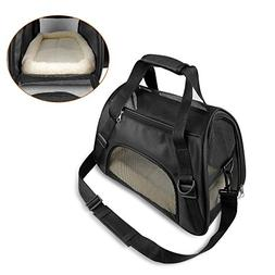 ONSON Pets Travel Carrier - Cat Carrier, Soft Sided Travel B