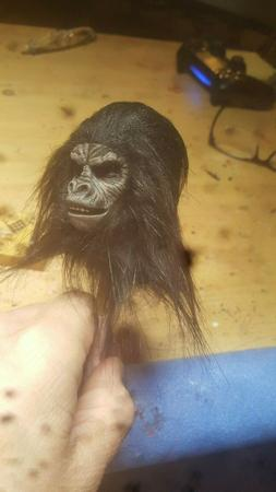 Planet of the apes hot toys style rooted ape soldier head fo