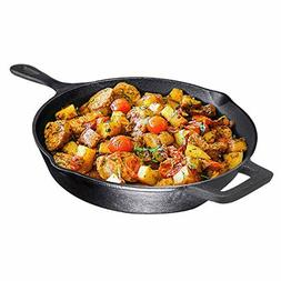 Pre-Seasoned Cast Iron , Non-Stick,12 inch Frying Pan - Skil