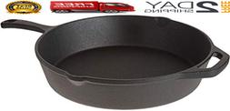 Pre-Seasoned Cast Iron Skillet Frying Pan-12 inch Non- Stick