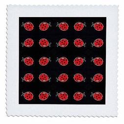 3dRose qs_22127_4 Baby Ladybugs-Quilt Square, 12 by 12-Inch