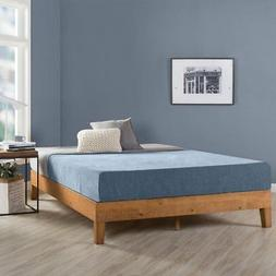 Full Size 12 Inch Grand Solid Wood Platform Bed Frame, Natur