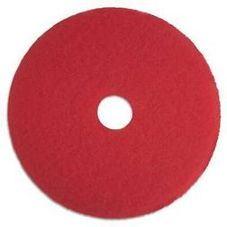 3M Red Buffer Floor Pads 5100 Low-Speed 12 inches 5/Carton
