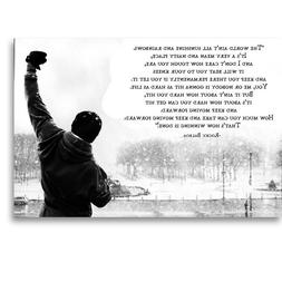 Rocky Balboa Motivational Quote Movie Canvas Poster Art Prin