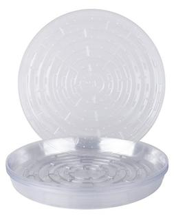 "Curtis Wagner Round Clear Vinyl 12"" Plant Saucer - Pack of 1"