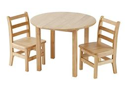 """ECR4Kids 30"""" Round Natural Hardwood Table, 22"""" Height with T"""
