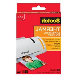 Scotch Thermal Laminating Pouches, 5 x 7-Inches, Photo Size,